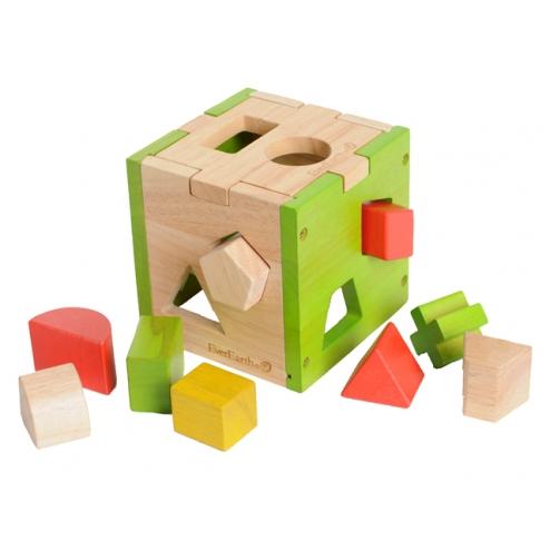 木製形狀認知方塊