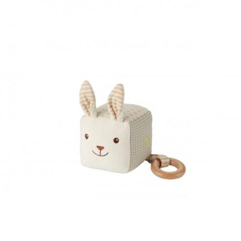 布質小白兔方磚連咬牙器